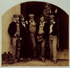 Five boys from Twyford School, 1859.  [(signed) Clement D. E. Malet, Ralph Clutton, John Henry Clutton, F. G. Richardson, John S
