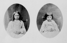 Photographs of Ina (Lorina) and Alice Liddell.